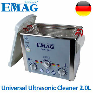Emag Ultrasonic Cleaner Solution Bath Clean Parts Instrument Jewelry Dental 2 0l