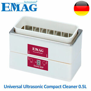 Emag Ultrasonic Cleaner Solution Bath Clean Parts Instrument Jewelry Dental 0 5l