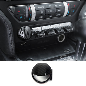 Carbon Fiber Engine Start Stop Button Switch Trim For Ford Mustang 2015 2020