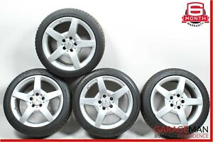 03 11 Mercedes Slk350 Clk500 Amg Sport 7 5 8 5x17 Wheel Rim Staggered Set Of 4