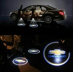 2pc Wireless Car Door Led Welcome Projector Light Shadow Lamp For Chevrolet Usa