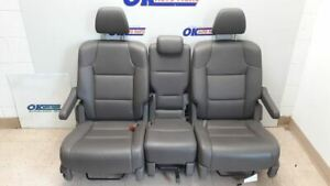 14 2014 Honda Odyssey Touring Oem Second Row Rear Seat Dark Gray Leather