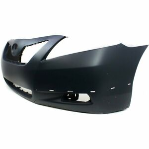 New Primed Front Bumper Cover For 2007 2009 Toyota Camry Se W Spoiler Cutout