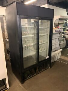 True Gdm 41 2 Door Sliding Glass Door Refrigerator Merchandiser Cooler Used