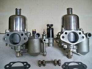 Jaguar 49 50 Xk 120 Su H6 Carburetor Set 1 3 4 Auc 531 Rare 3256 Float Bowl