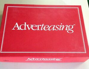 1988 ADVERTEASING BOARD GAME CADACO COMPLETE SLOGANS JINGLES COMMERCIALS $6.99