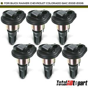 6pcs Ignition Coils Pack For Buick Rainier Chevy Trailblazer Gmc Envoy L6 4 2l