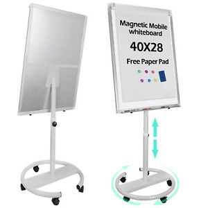 25 x36 Telescopic Roll Around Whiteboard Dry Erase Easel Magnetic Display Board