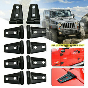 Hood Door Hinge Cover For 2007 2017 Jeep Wrangler Jk Jku Unlimited Accessories