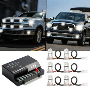 Hide Away Strobe Lights 6 Hid Led Emergency Warning Flash Bulbs Kit Trucks 120w