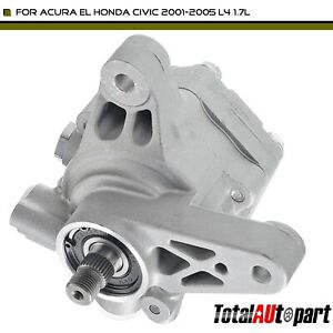 Power Steering Pump For Acura El Honda Civic 2001 2005 L4 1 7l W O Reservoir