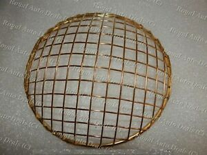New Royal Enfield Universal Brass Head Light Protective Grill