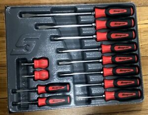 New Snap On Red Sgdx120br 12 Piece Soft Grip Combination Screwdriver