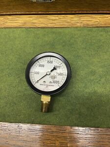 Marsh Instrument Company Boiler Pressure Gauge With Bronzed Bushed Movement