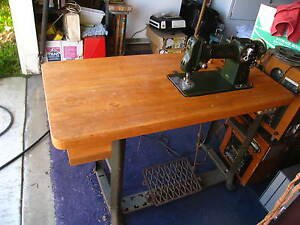 A 117l Bernina Industrial Sewing Machine On Wood Stand Vintage Pick Up Californ