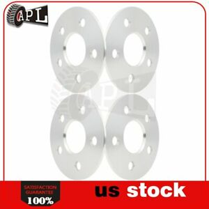 4x Universal Wheel Spacers 3mm 4x100 4x110 5x108 5x110 For Buick Acura Silver