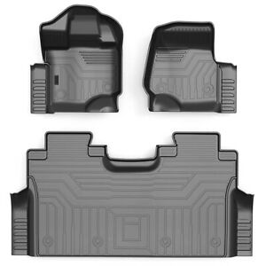 All weather Floor Mats Liners Tpe For 2015 2020 Ford F150 F 150 Supercrew Cab