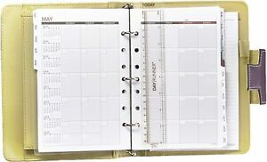 At a glance Day Runner Undated Weekly monthly Planner Purple