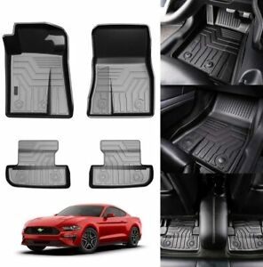 Heavy Duty Floor Mats Liners For Ford Mustang All Weather Custom Fit 2015 2020