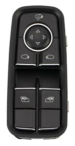 Front Chrome Power Master Window Switch For Porsche 911 991 Carrera Turbo Gt2 Rs