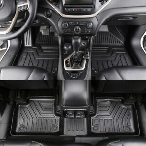 All Weather Floor Mats Liners For 2016 2020 Jeep Cherokee Front Rear 3pcs Set