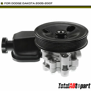 Power Steering Pump W Pulley Reservoir For Dodge Dakota 2005 2007 52855186ad