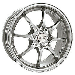 15x6 5 Konig 72s Helium Silver Wheels 4x100 40mm Set Of 4
