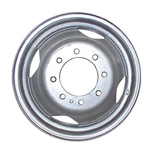 02125 New Comptible Silver Steel Wheel 16in Fits Dodge 3500 Series Truck 1994 99