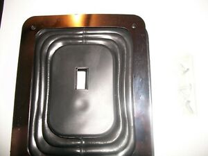 Hurst Style Universal Large Rubber Shifter Boot W Chrome Plate 6 1 2 X 5 1 4