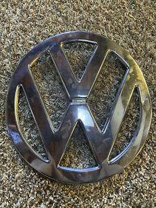 1955 1967 Vintage Vw Bus Deluxe Chrome Nose Emblem