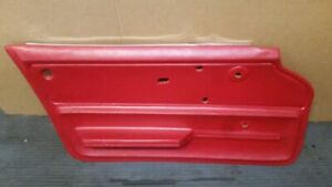 Corvette 1965 1966 Oem Lh Drivers Side Coupe Door Panel Red Great Condition