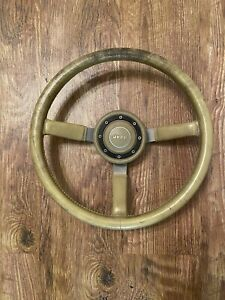 Jeep Cherokee Xj Comanche Mj Wrangler Yj Tan Leather Wrapped Steering Wheel