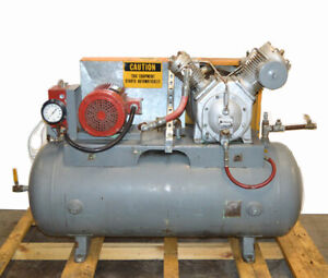 Ingersoll Rand 30t 7t 10 hp 3ph 120 gal Air Compressor Two stage 230 460v 200psi