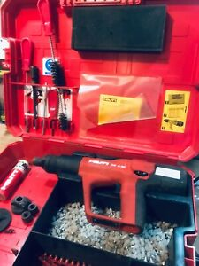 Hilti Dx A40 Powder Actuated Fastening System Tool With Hard Case Accessories