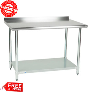 30 X 48 Stainless Steel Work Prep Food Table With Undershelf Kitchen 2 Upturn