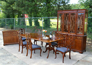 Thomasville 10pc Cherry Replicas Dining Room Set Table 6 Chairs Best On Ebay