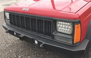 Jeep Cherokee Xj Front Bumper Nonwinch 84 01 Tow Points Receiving Hitch Usa