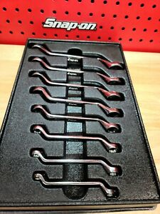 Snap On 8 Piece 6 22mm Flank Drive Short 60 Deep Offset Box Wrench Set