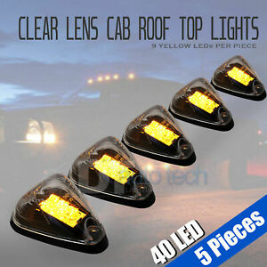 5x Roof Truck Suv Cab Marker Running Clearance Chevy Silverado Led Lights