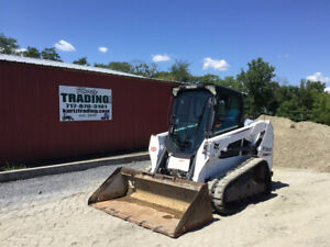 2014 Bobcat T550 Compact Track Skid Steer Loader Cab Only1700 Hours Clean