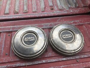 Ford Poverty Hubcaps For Galaxie Custom 1967 Lot Of 2