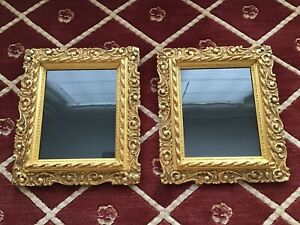 Pair Antique Victorian Gold Gilt Gesso Picture Frames Fits 8 X 12