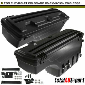 2pcs Truck Bed Storage Box Toolbox For Chevy Colorado Gmc 2015 2020 Left