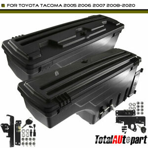 2pcs Truck Bed Storage Box Toolbox For Toyota Tacoma 2005 2020 Rear Left