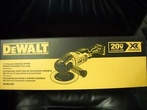 Dewalt Dcm849b 20v Max Xr 7 Cordless Variable Speed Rotary Polisher New