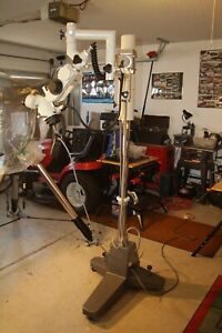 Overhauled Olympus Ome Surgical Stereo Microscope Works Excellent
