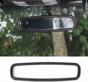 For Ford F150 Mustang Carbon Fiber Car Interior Rearview Mirror Trim Frame