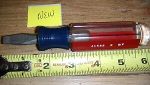 New Craftsman Flathead Screwdriver 5 16 Stubby Usa Made 41586 Nwf Blue Red