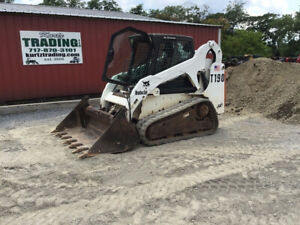 2005 Bobcat T190 Compact Skid Steer Loader W Cab 4 1 Bucket Only 1600hrs Clean