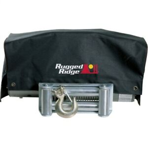 Rugged Ridge 15102 02 Winch Cover Blk Fits 8500 Lb And 10500 Lb Winch New